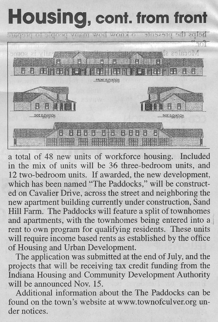 The Paddocks in The Culver Citizen