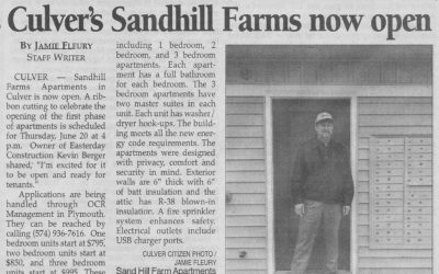 Sand Hill Farm Opening Announcement in Pilot News