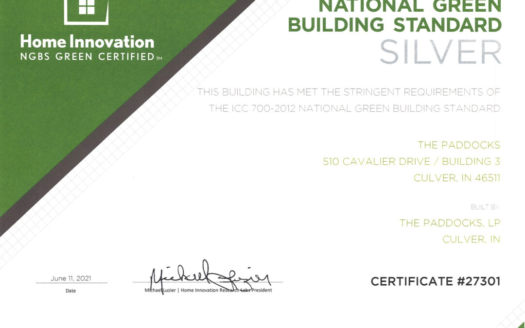 NGBS Certification for The Paddocks Apartments